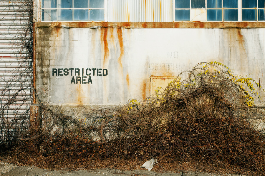 Restricted Area in Sunset Park