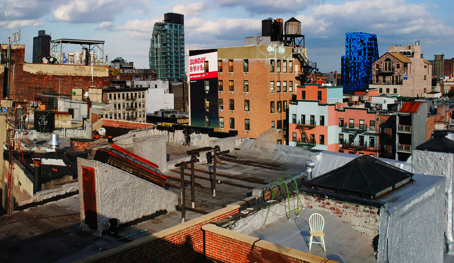 Looking Northeast from a Roof on Broome Street