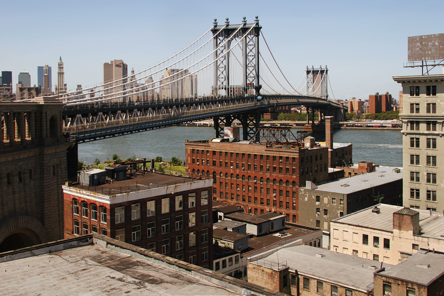 Looking West from a Rooftop in DUMBO