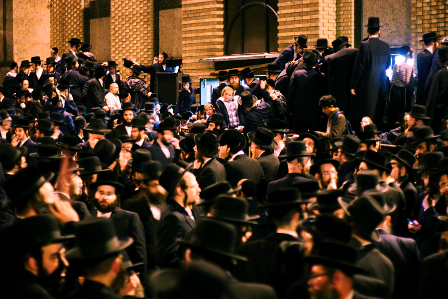 At a Satmar Funeral in Williamsburg