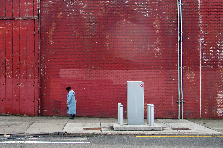 Woman by the Brooklyn Queens Expressway