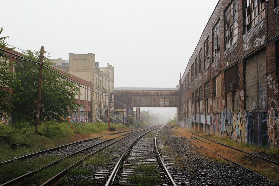 Maspeth Tracks in the Rain
