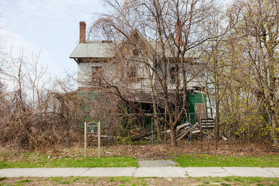A crumbling house at Fort Totten in Queens